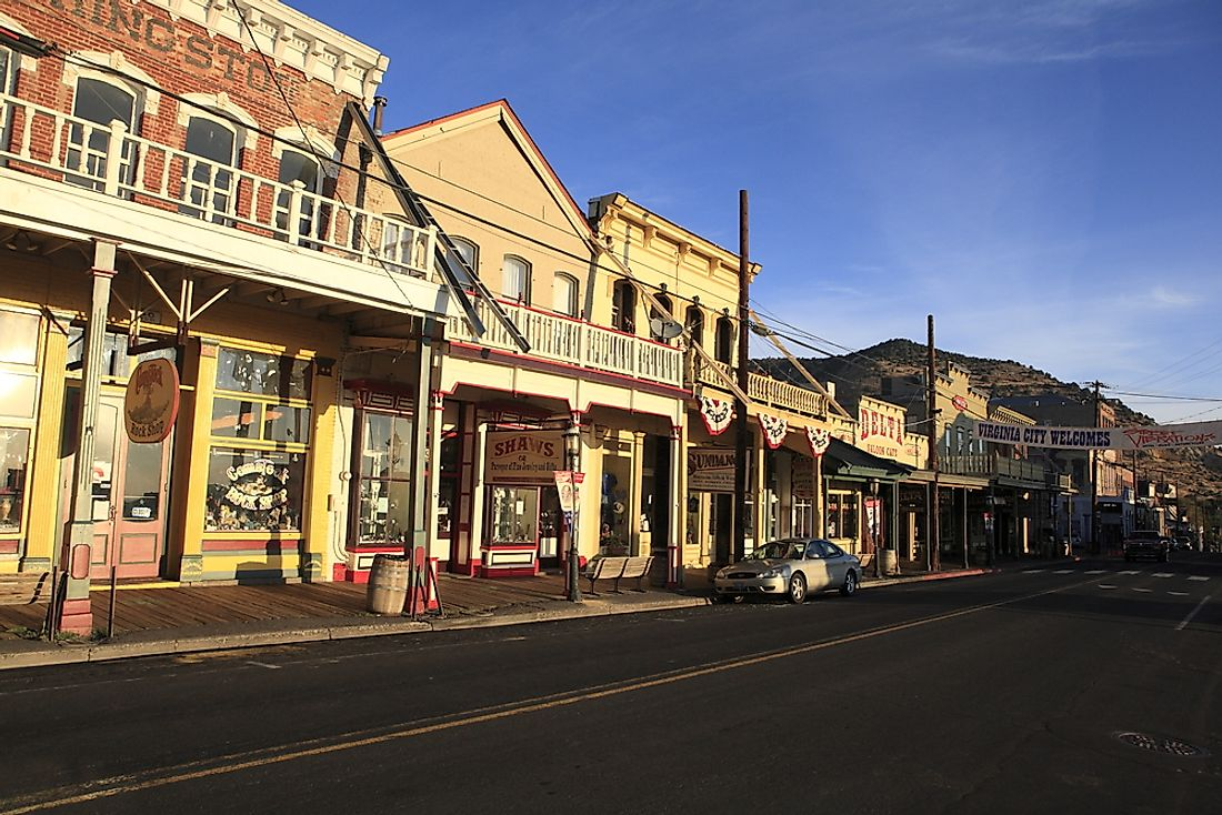 View of Virginia City's main street. Editorial credit: Purplexsu / Shutterstock.com