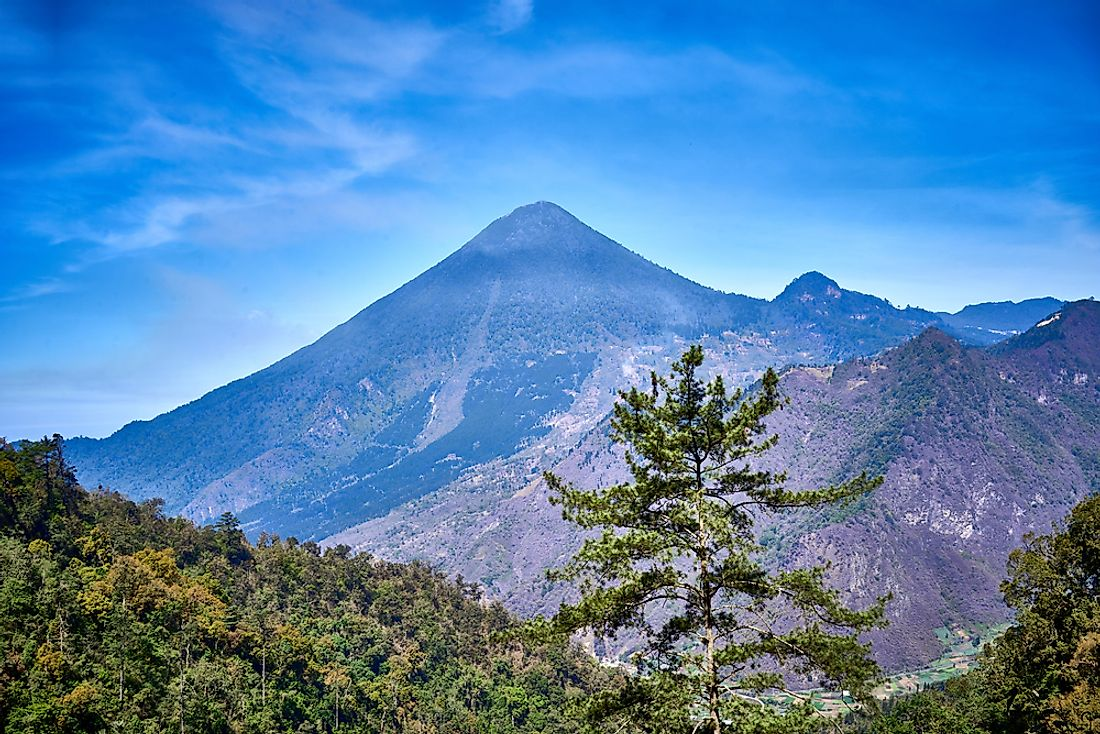 Santa Maria is an active volcano in the western highlands of Guatemala.