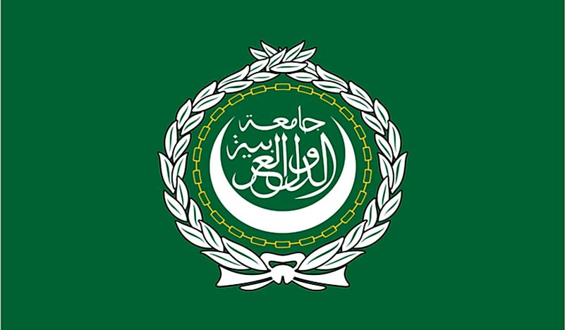 The official flag of the Arab League.