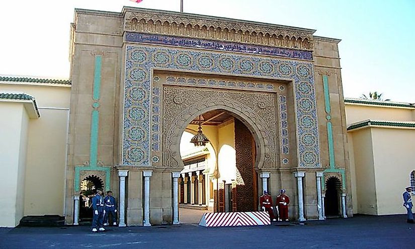 Royal Palace, Rabat, Morocco is the official residence of the King of Morocco.