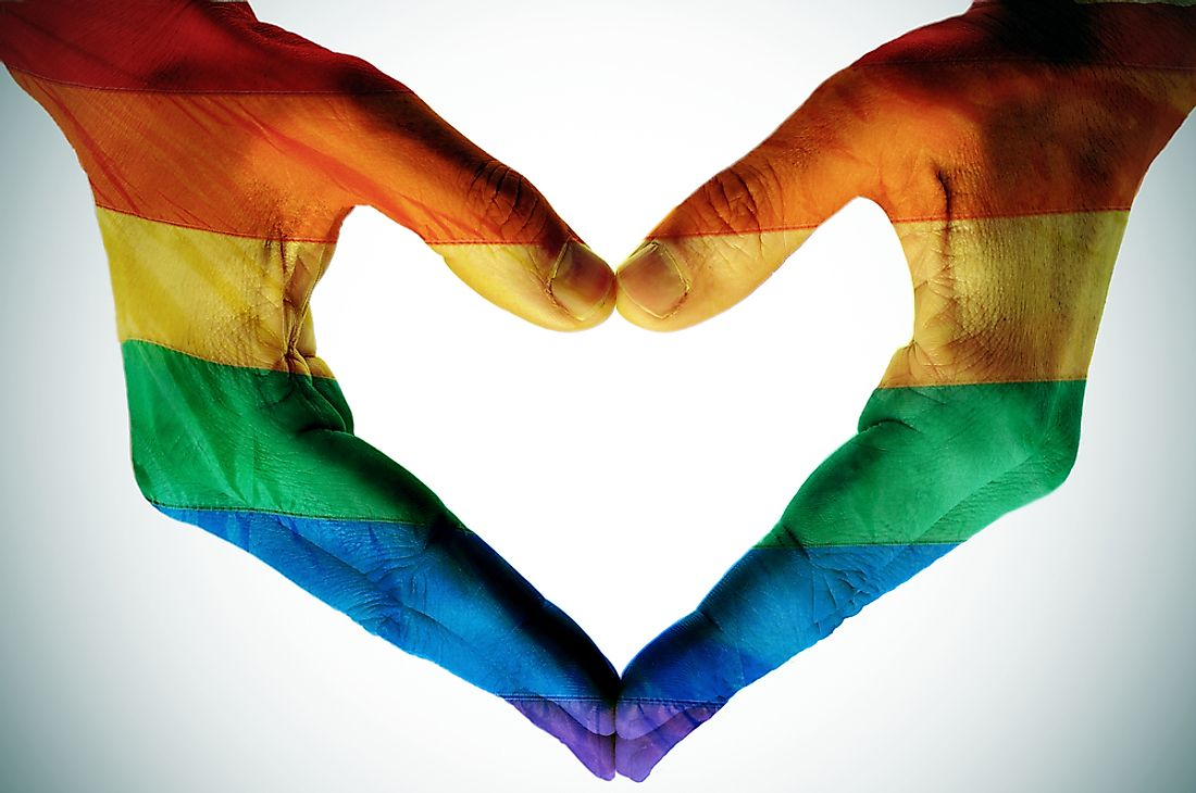 The rainbow flag is the universal symbol for the fair treatment of LGBTQ people.