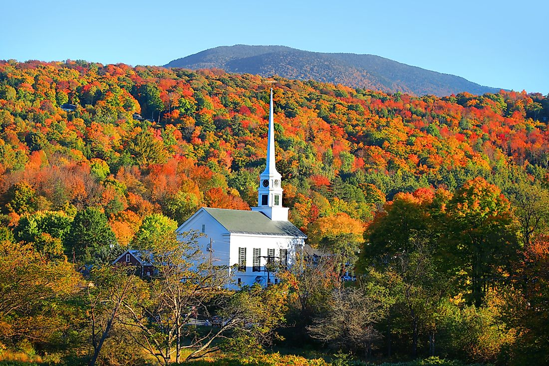 Small church in the Stowe, Vermont.