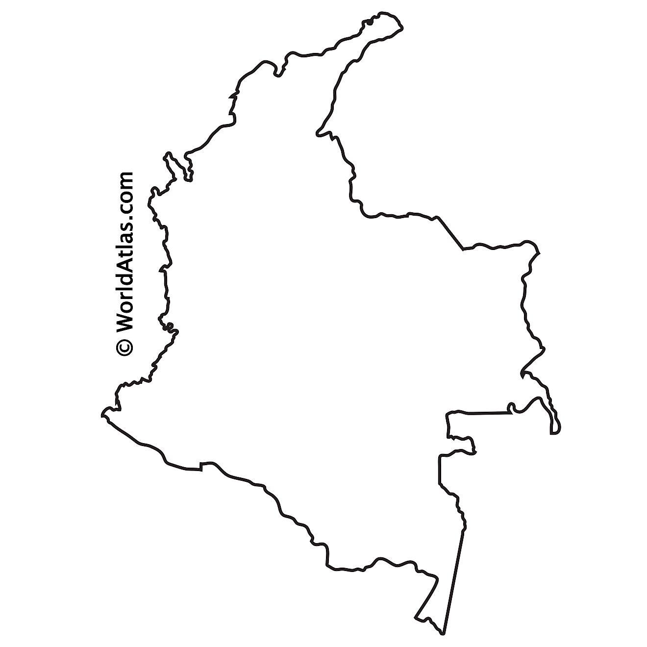 Outline map of Colombia
