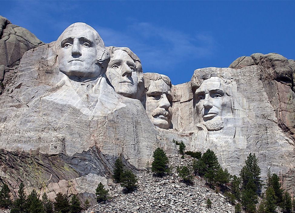Mount Rushmore National Memorial is located in Black Hill, South Dakota.