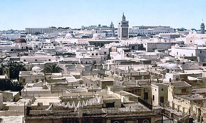 A view of Tunis, the largest city of Tunisia.