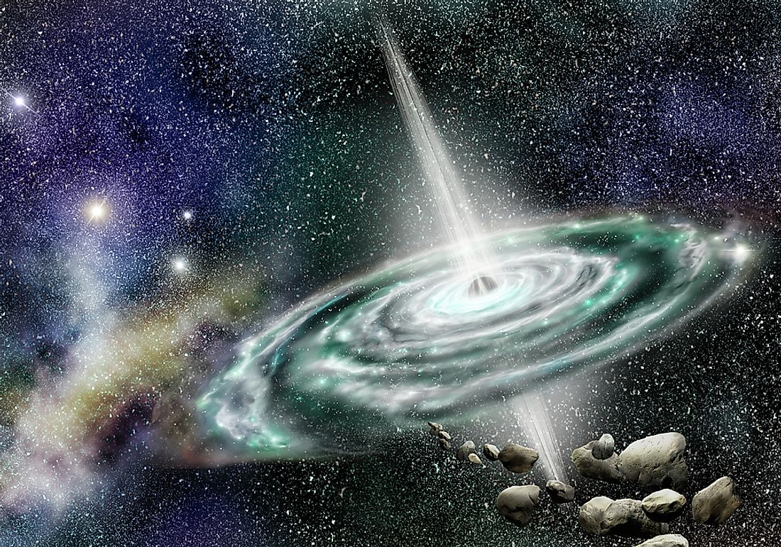 Quasars are greater and brighter than the Sun and obtain their energy from black holes.