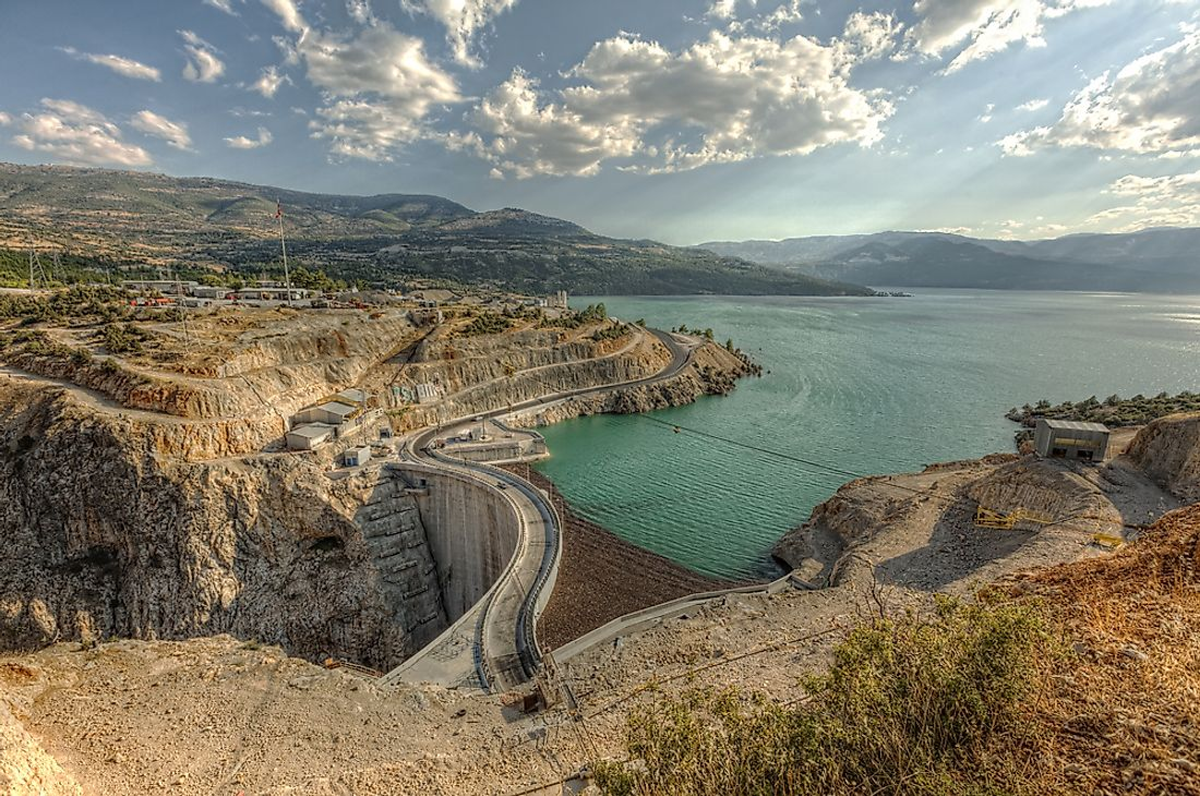 Ermenek Dam is the second tallest dam in Turkey.