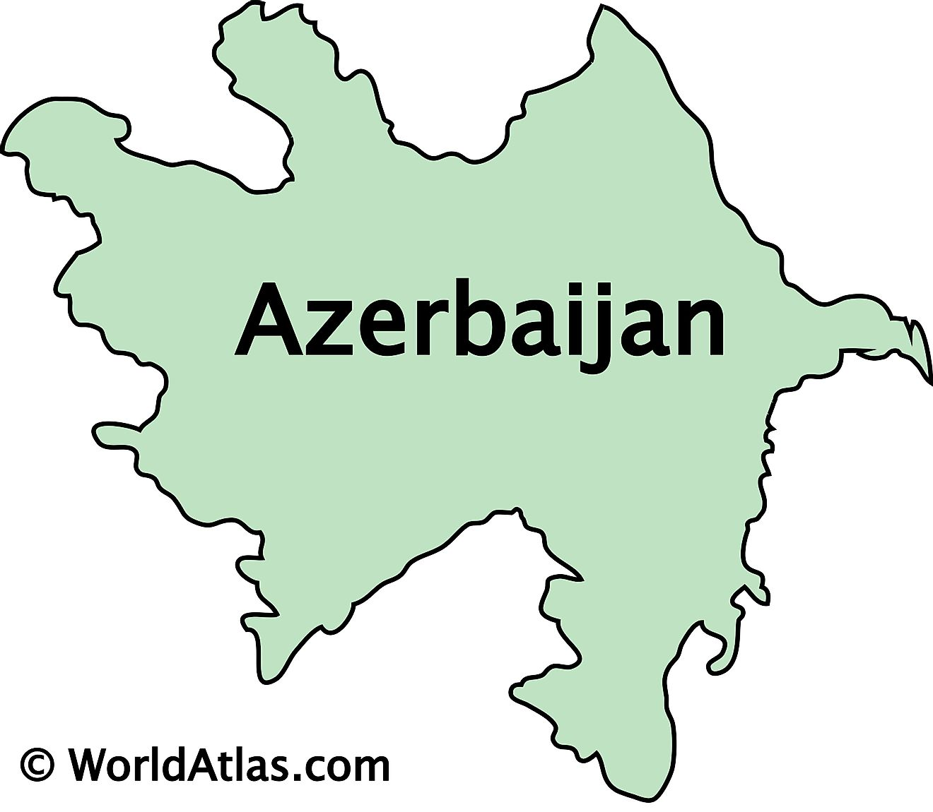 Outline Map of Azerbaijan