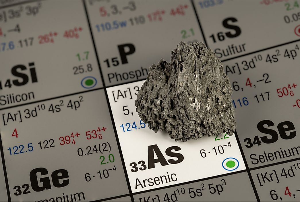 Arsenic is a naturally occurring element that is toxic and dangerous to the environment.