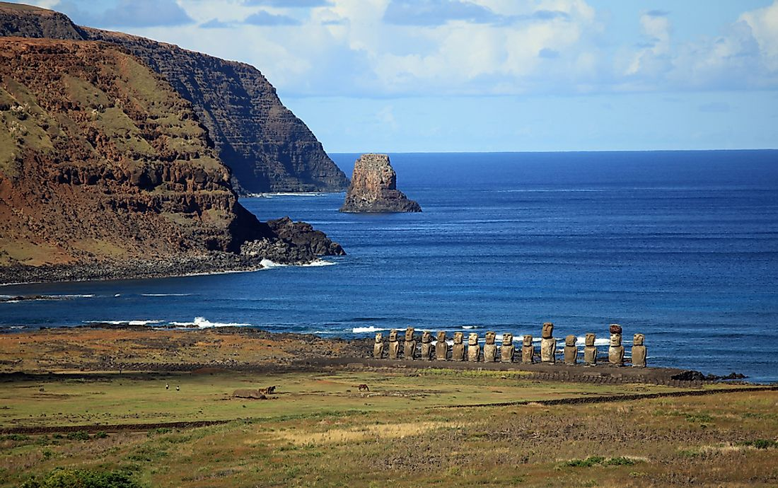 Although Easter Island is owned by Chile, it is geographically part of Polynesia making it the easternmost points of the continent of Oceania.