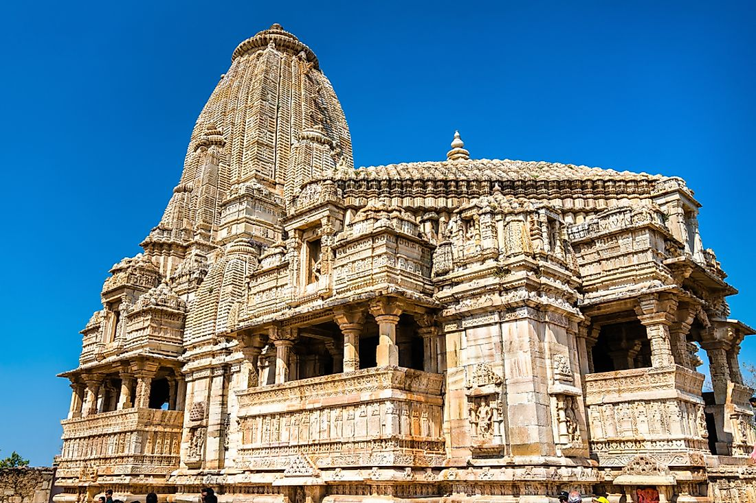 The temple at Chittorgarh Fort in Rajasthan, India was build in dedication to Mirabai.