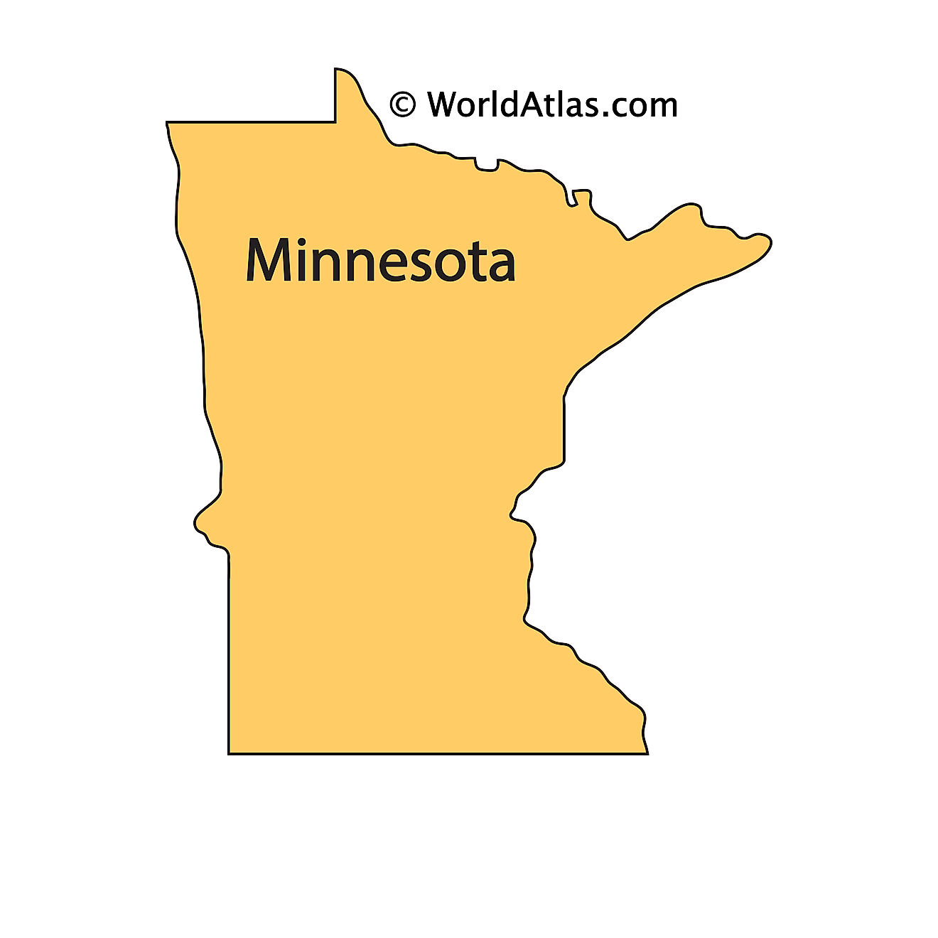Outline Map of Minnesota