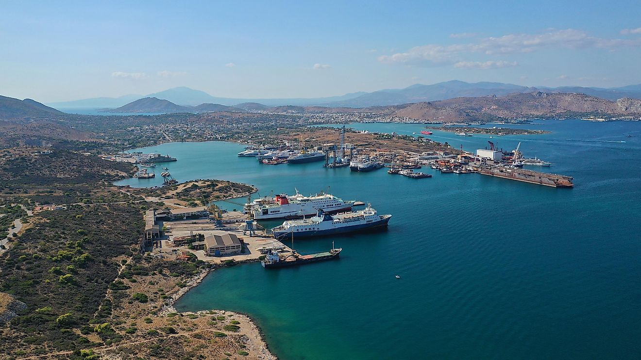 Salamis, Greece. Image credit: Aerial-motion/Shutterstock