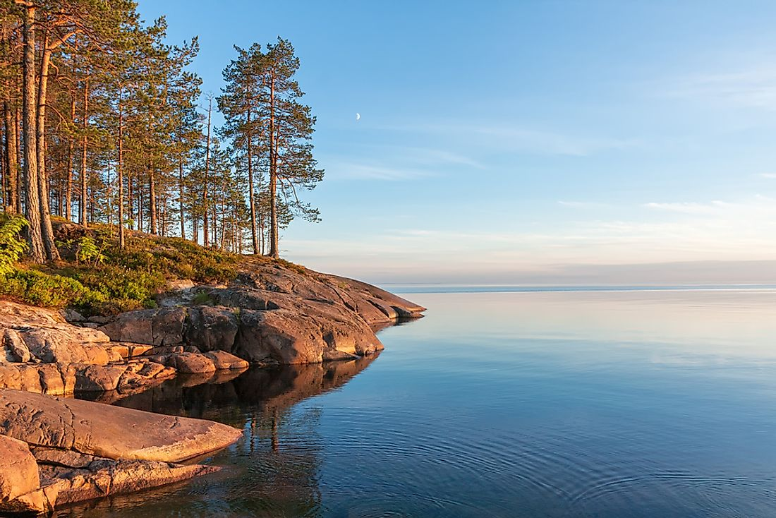 The majority of Europe's largest lakes are found in Russia.