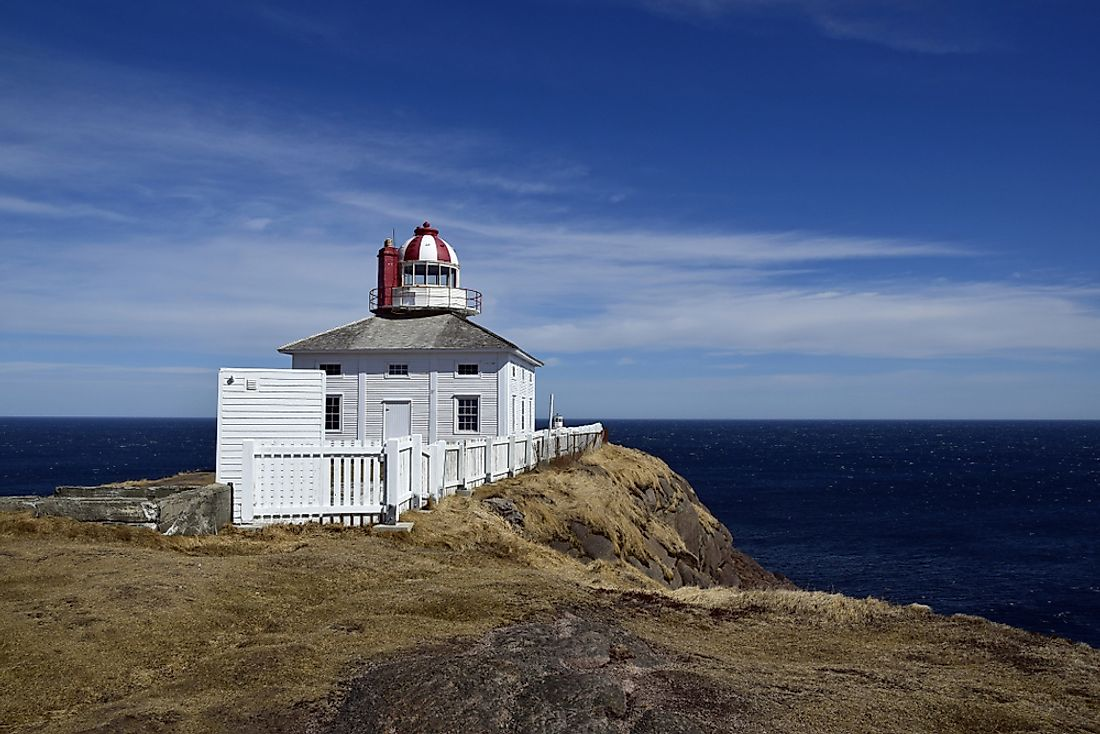 Cape Spear Lighthouse in Newfoundland is the easternmost point in Canada.