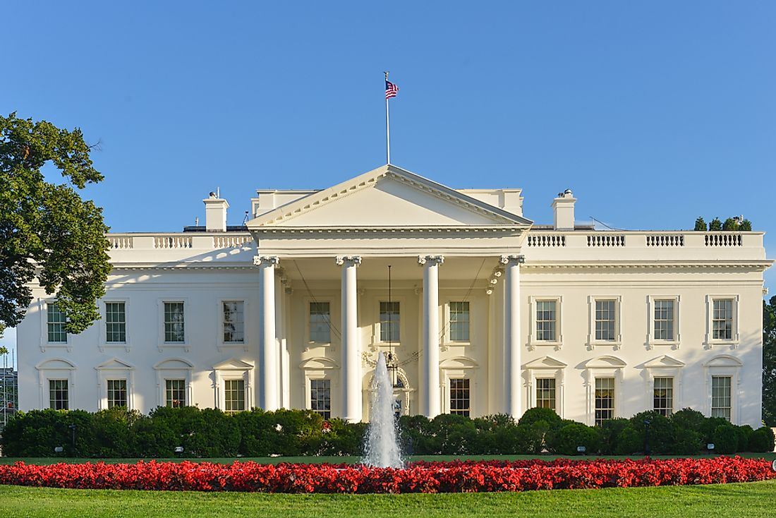 The White House, in Washington, D.C., is the official workplace and residence of the US president.