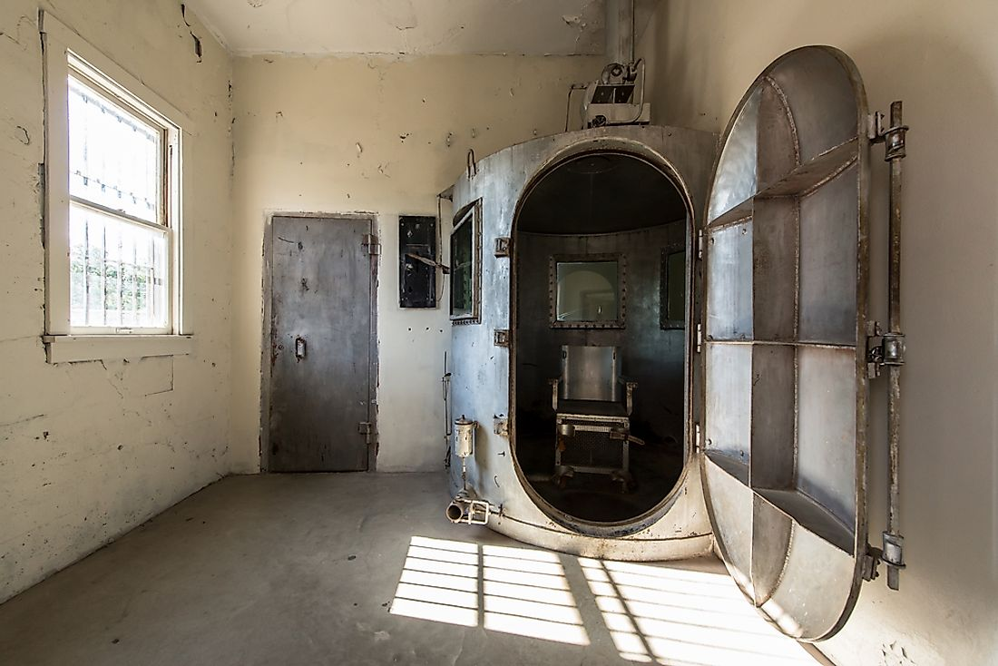 The gas chamber at Wyoming Frontier Prison. Editorial credit: Nagel Photography / Shutterstock.com