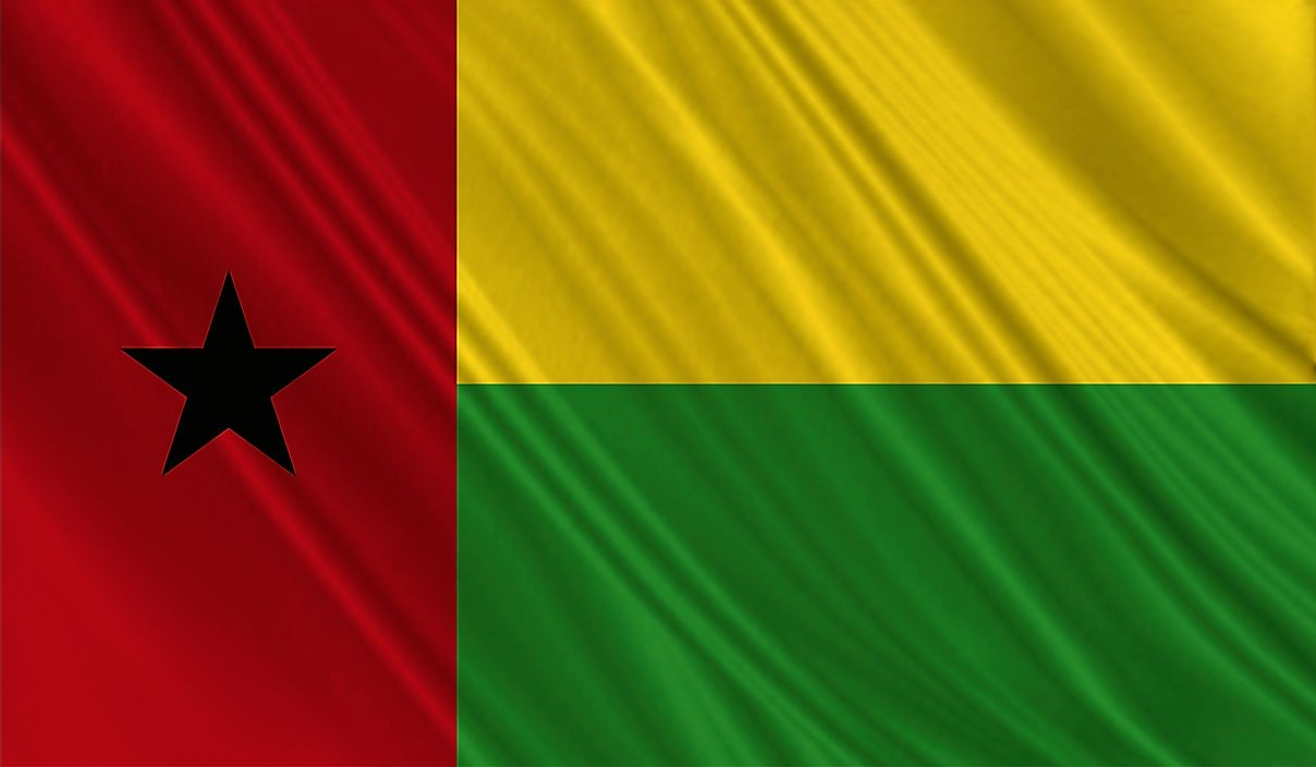 The flag of Guinea-Bissau.