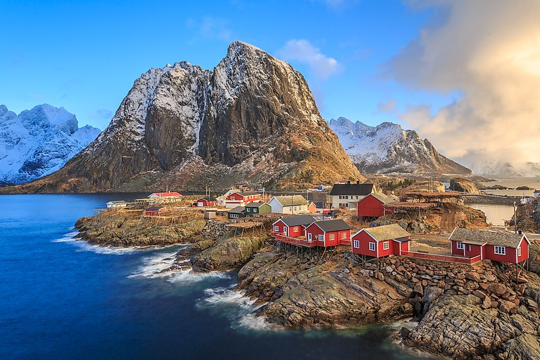 The landscape of the Norwegian Archipelago.