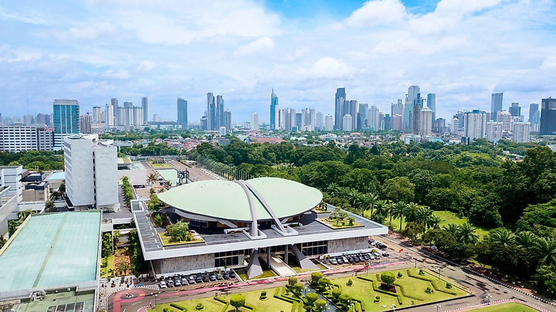 The Indonesia Parliament Complex. Editorial credit: Creativa Images / Shutterstock.com.
