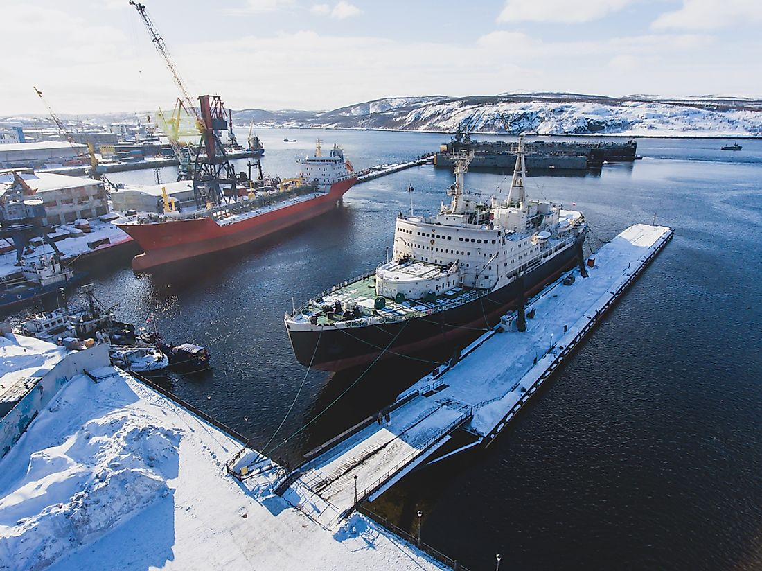 Murmansk's importance as an Arctic port comes from having in ice-free harbor despite its Arctic location.