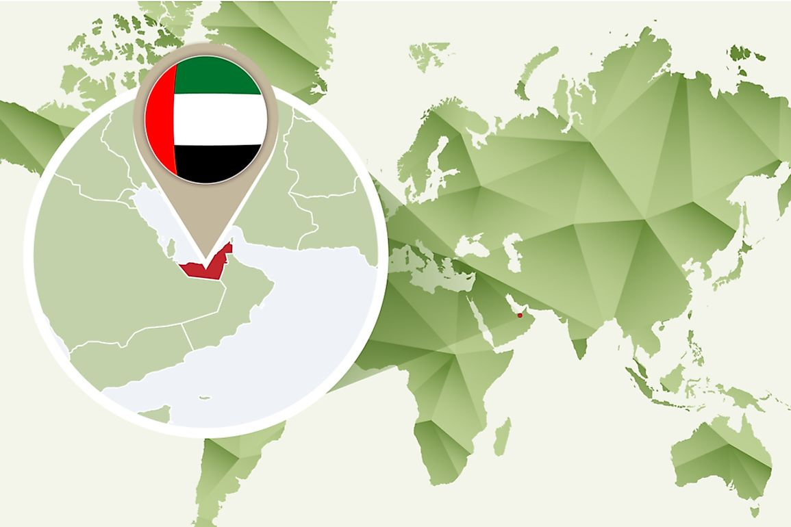 The United Arab Emirates has an extensive coastline along the Persian Gulf and the Sea of Oman.