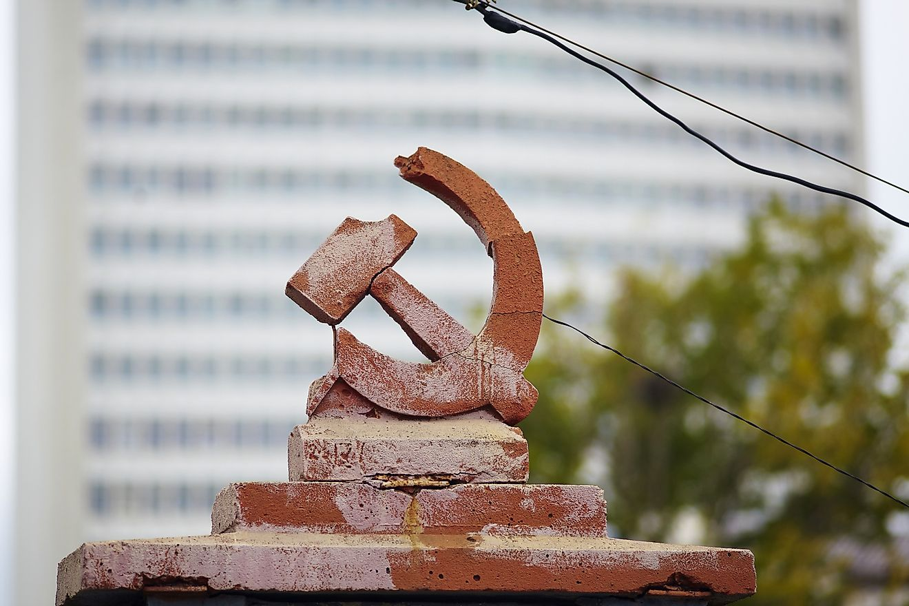 Broken symbol of the Soviet Union. Image credit:  Photobrutto/Shutterstock.com