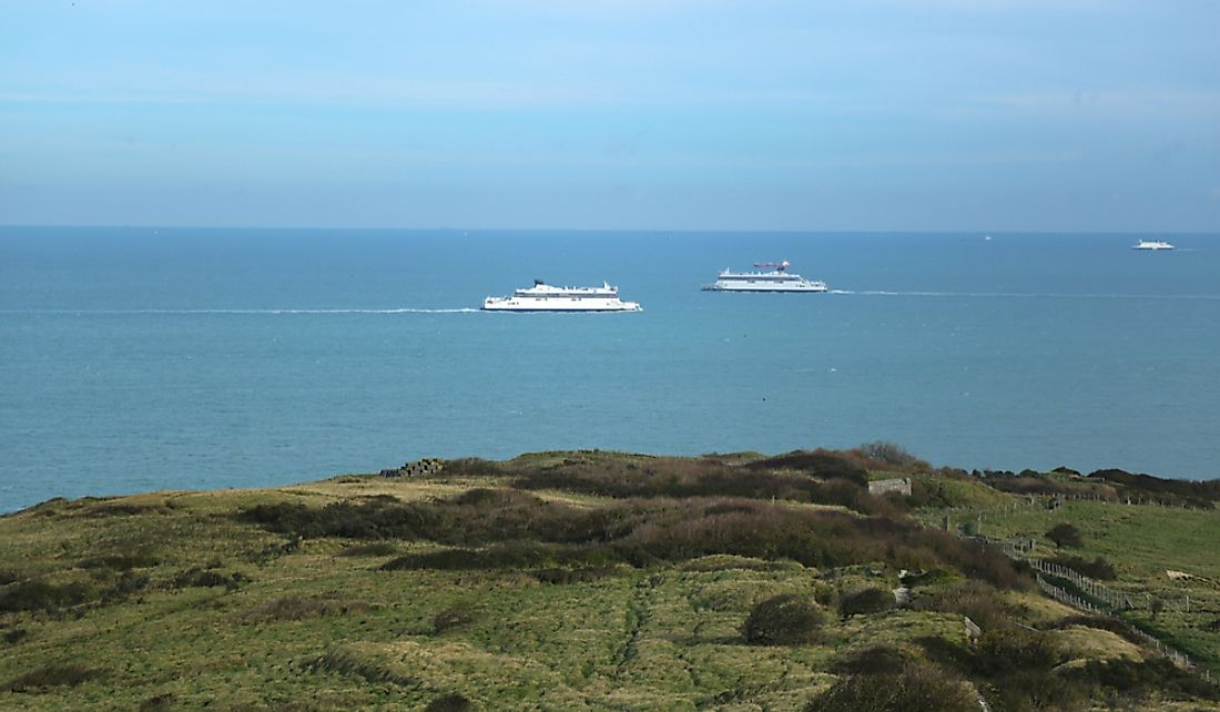 The English Channel Tunnel is one of the busiest seaways globally.