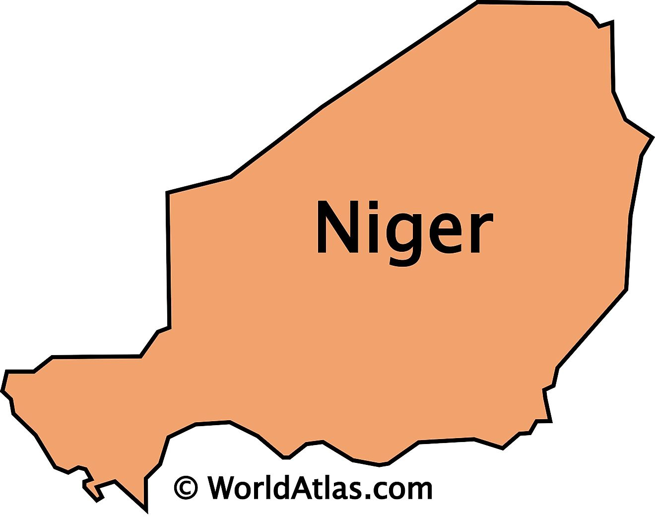 The Outline Map of Niger