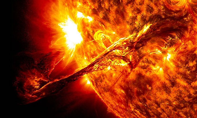 The sun is a hot ball of gasses that would burn all that approaches it, making space missions to the sun impossible.