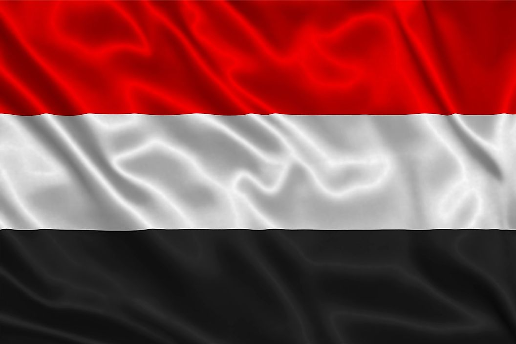 The flag of Yemen.