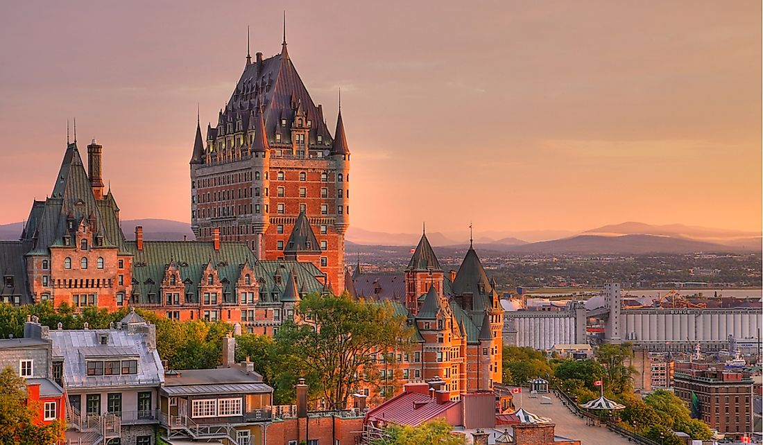 The Fairmont Le Château Frontenac in Quebec City.