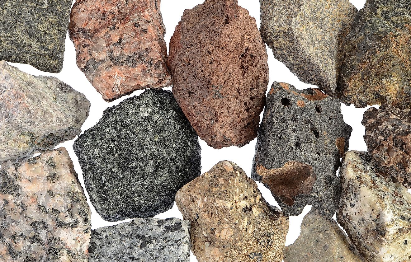 Different kinds of igneous rocks. Image credit: Artography/Shutterstock.com