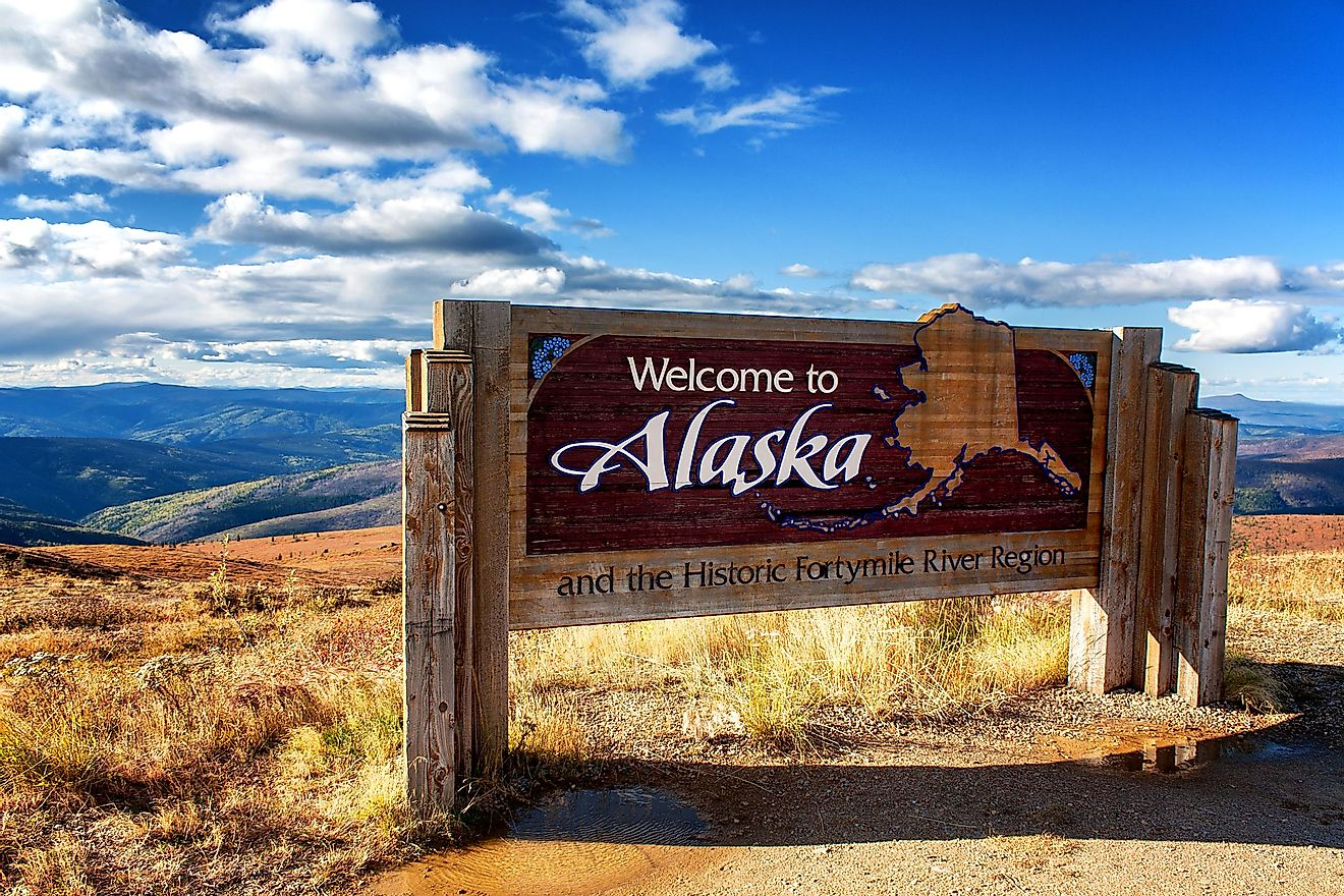 Alaska's welcome sign. Image credit: Ingo70/Shutterstock