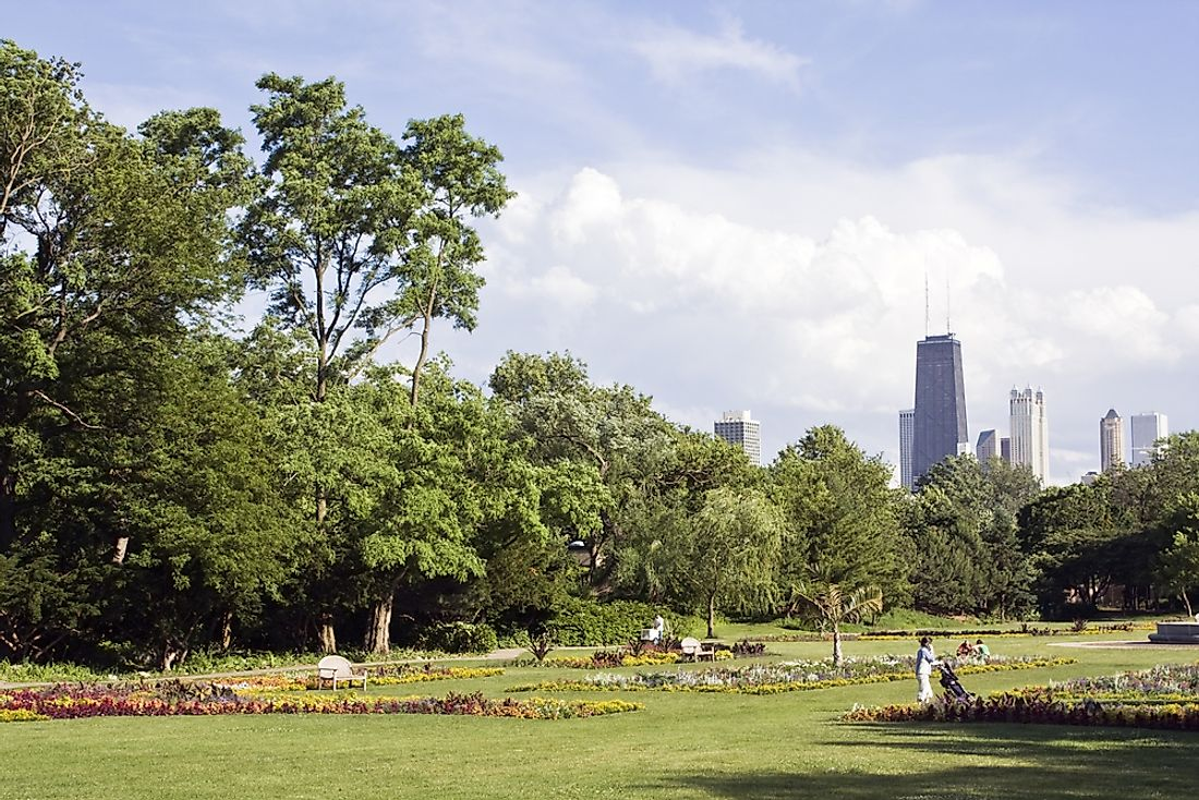 Lincoln Park, on the north end of Chicago, Ilinois, where the Saint Valentine's Day massacre occurred.