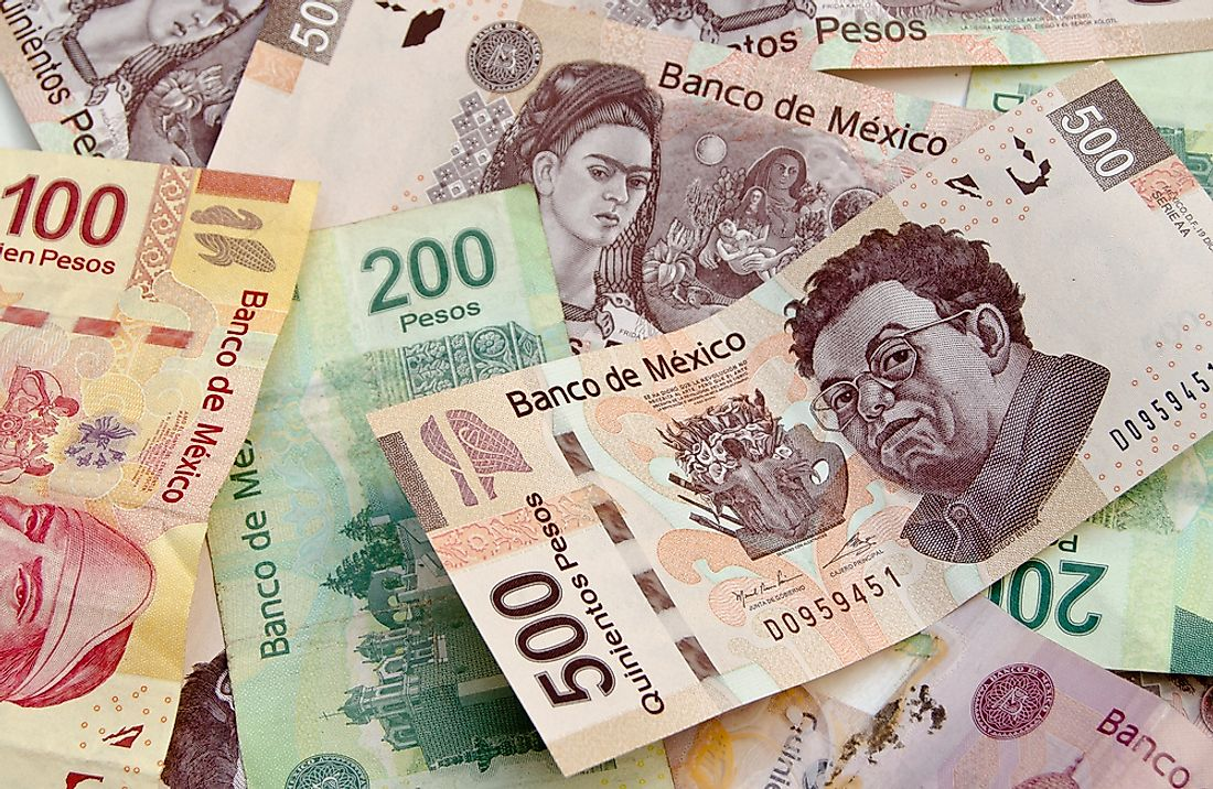 Mexico uses the Mexican peso.