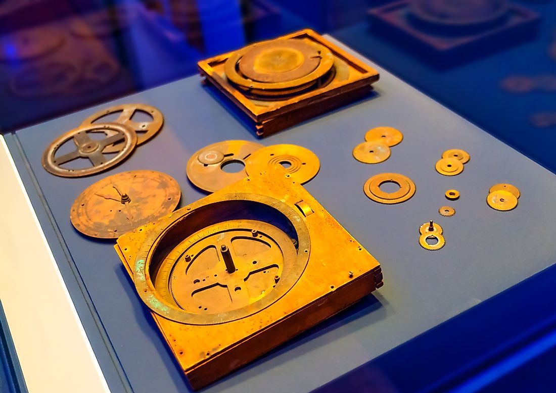Antikythera Mechanism was discoverd near Antikythere island in Greece. Editorial credit: imagIN.gr photography / Shutterstock.com