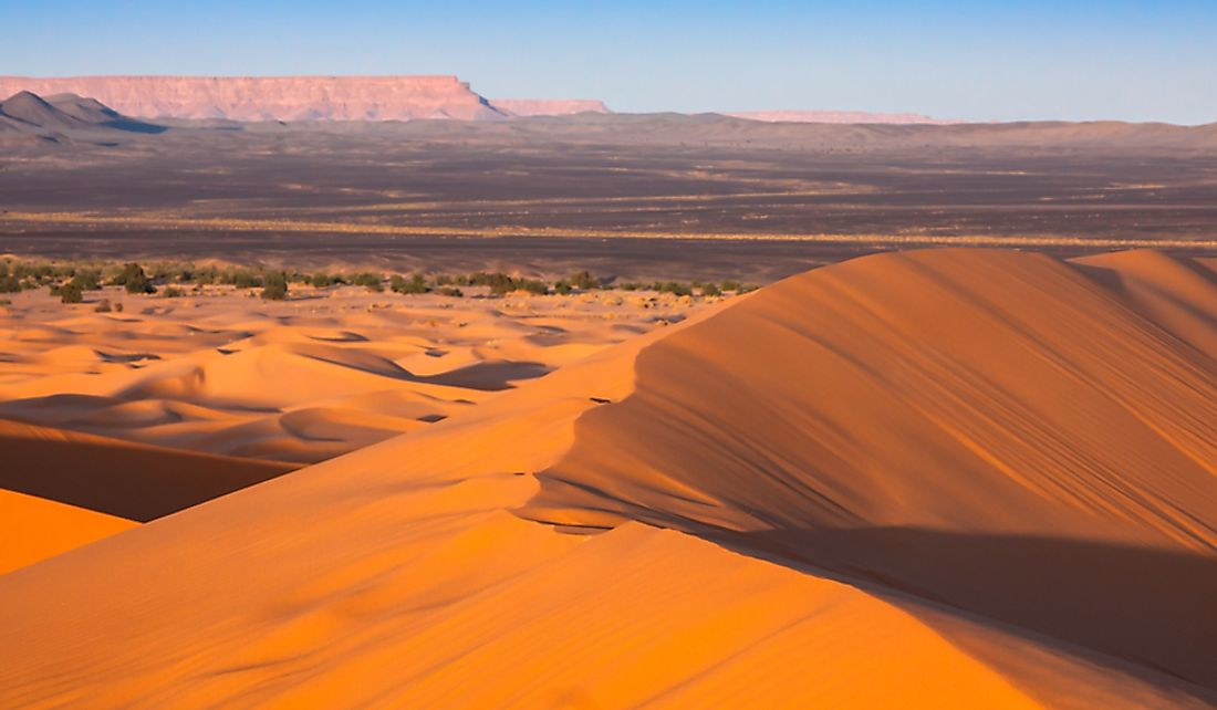 The Sahara Desert covers much of Northern Africa.