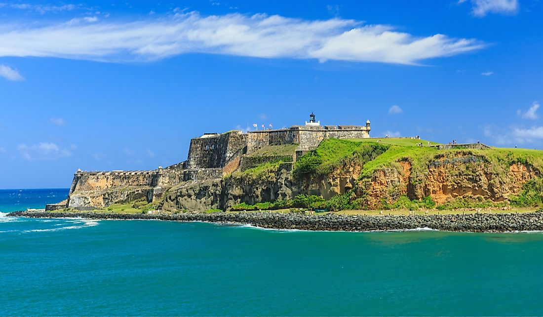 The El Morro fortress was designed to defend San Juan from seaborne attacks.
