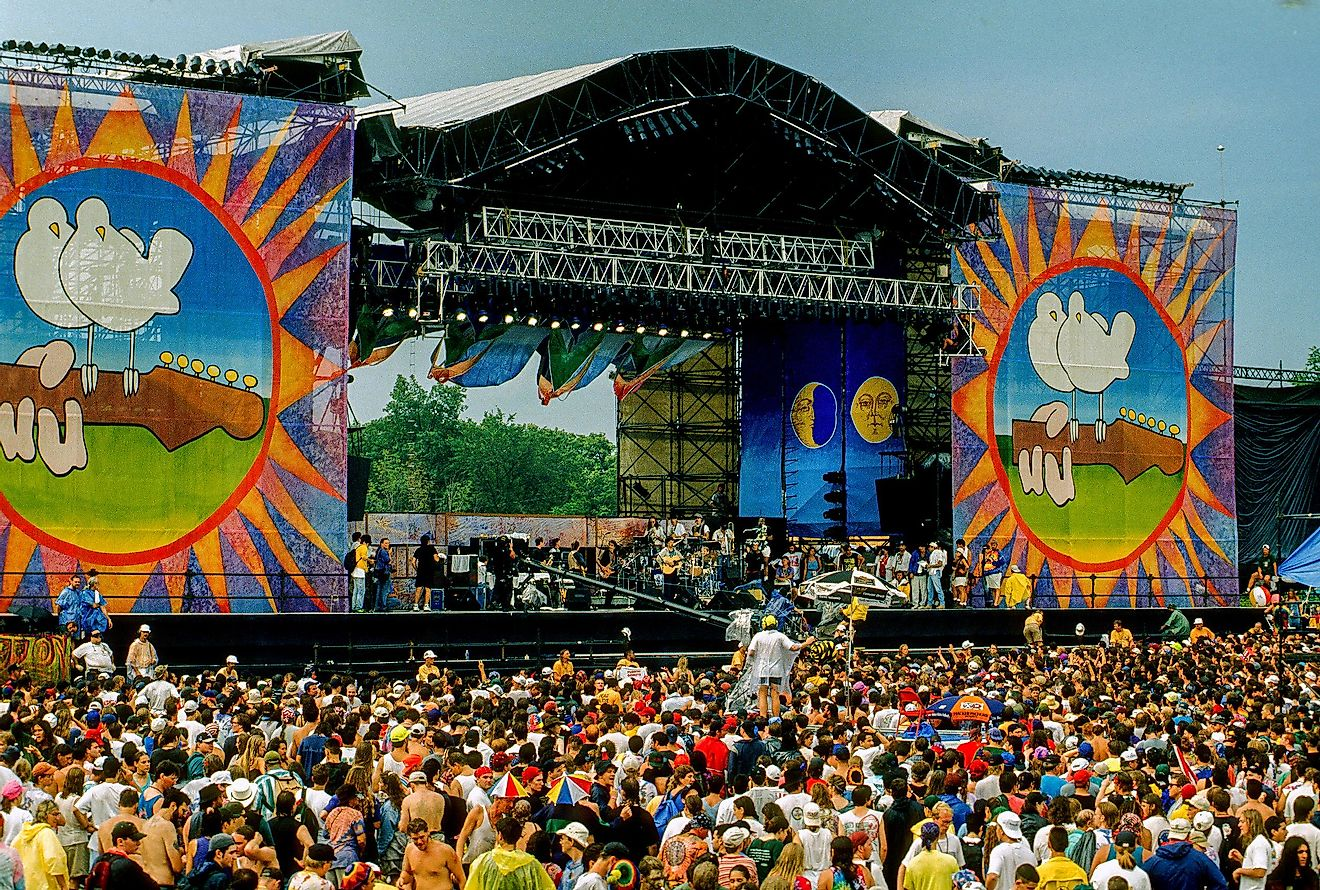 The organizers ended up turning Woodstock into a free event once concertgoers started pouring in.