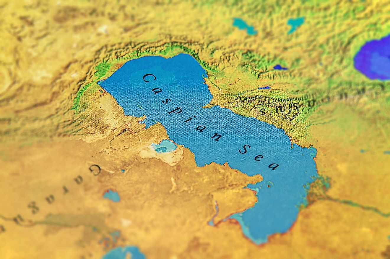 Although it has sea in its name, the Caspian Sea is a lake as it is not connected to the ocean.