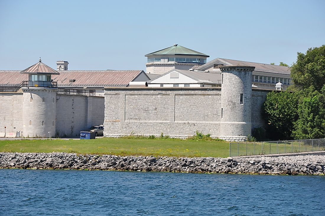 Kingston Penitentiary, a federal maximum security prison in Kingston, Ontario, Canada.