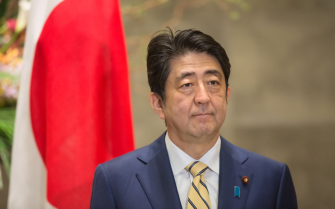 Japanese Prime Minister Shinzo Abe. Editorial credit: Drop of Light / Shutterstock.com.