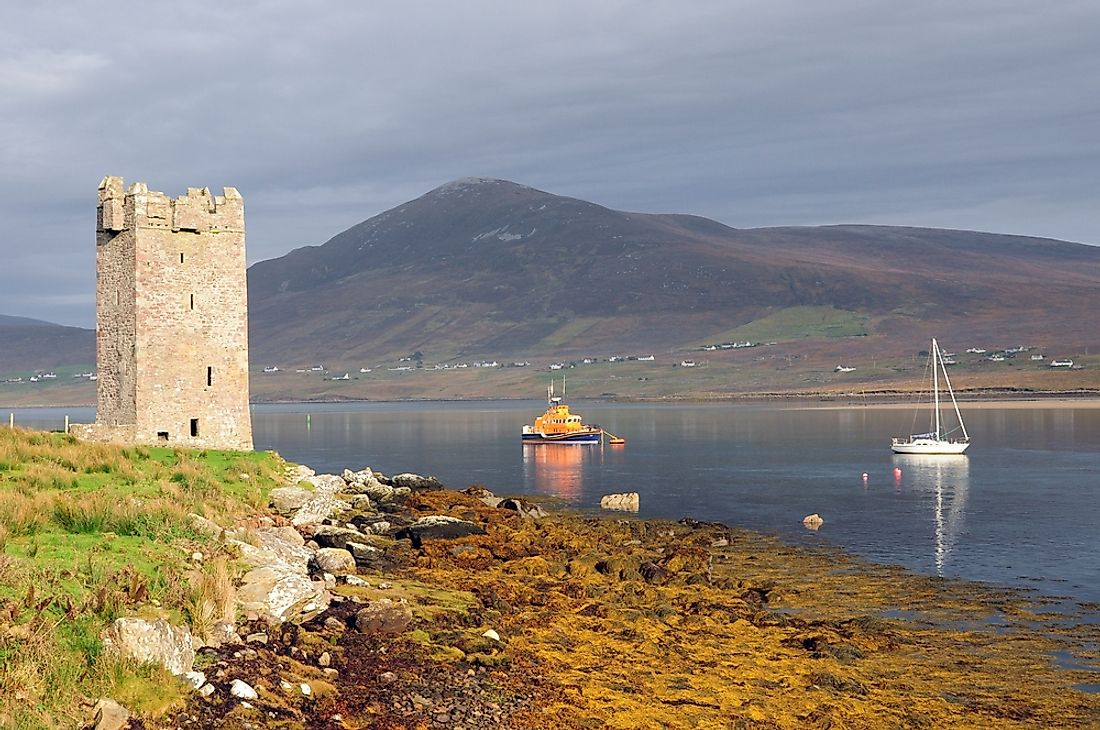 One of the many castles of Grace O'Malley, located at Kildavnet, Achill Island, Mayo, Ireland.