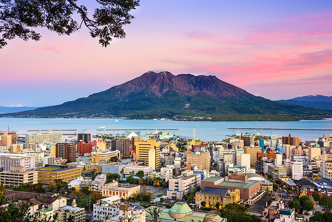 Sakurajima, located in Kagoshima, Japan, remains a constant threat to the nearby population as is one of the most active volcanoes in the entire world.
