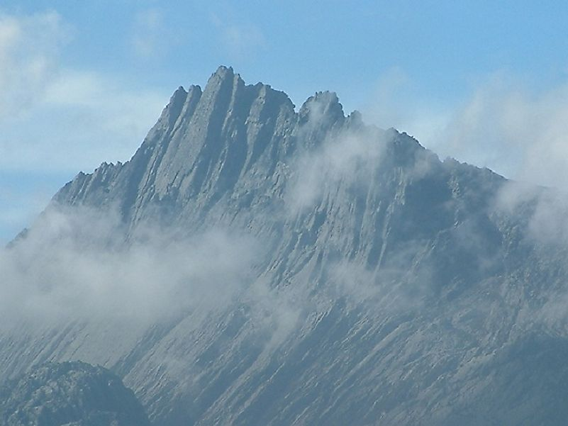 Puncak Jaya, Indonesia's mightiest peak in the Sudirman Range.