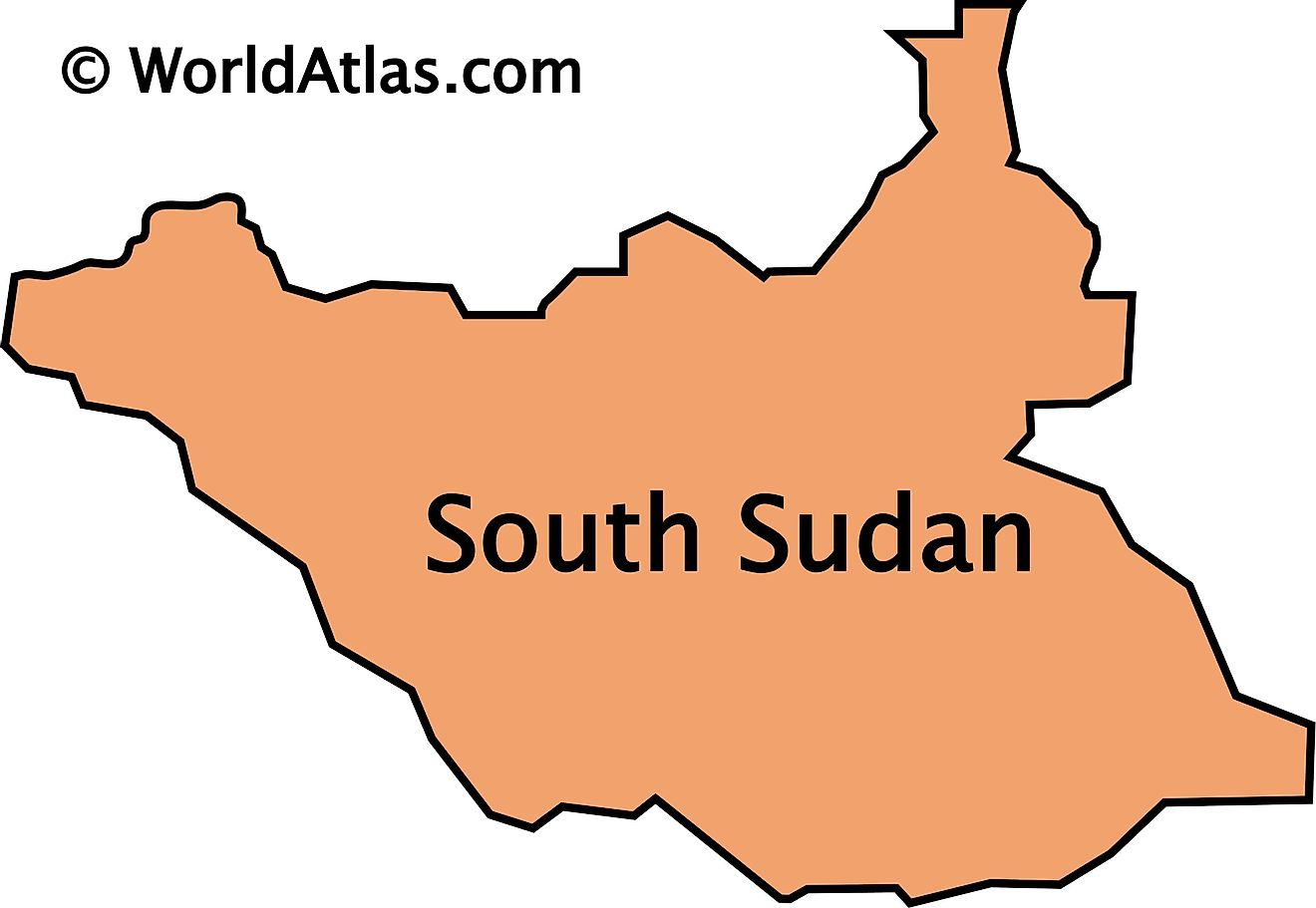 Outline Map of South Sudan