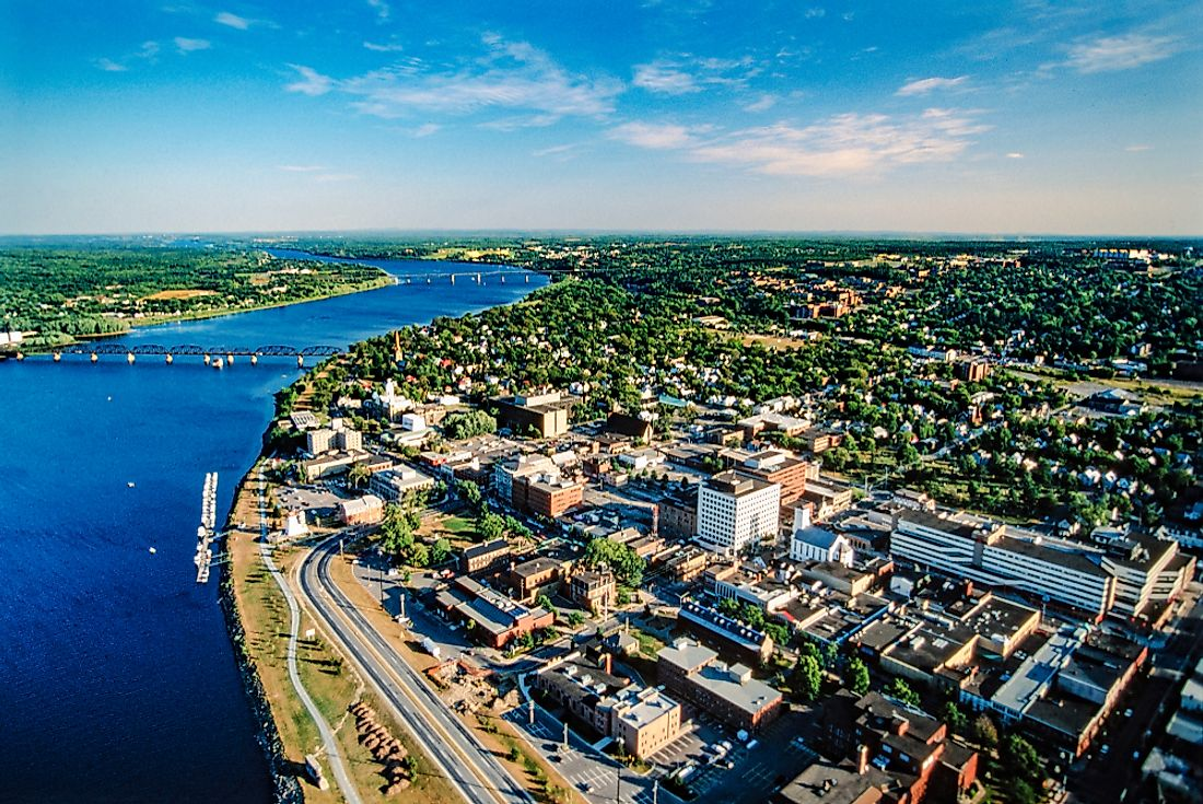 New Brunswick's capital, Fredericton, was named the second-best city to live in the province.