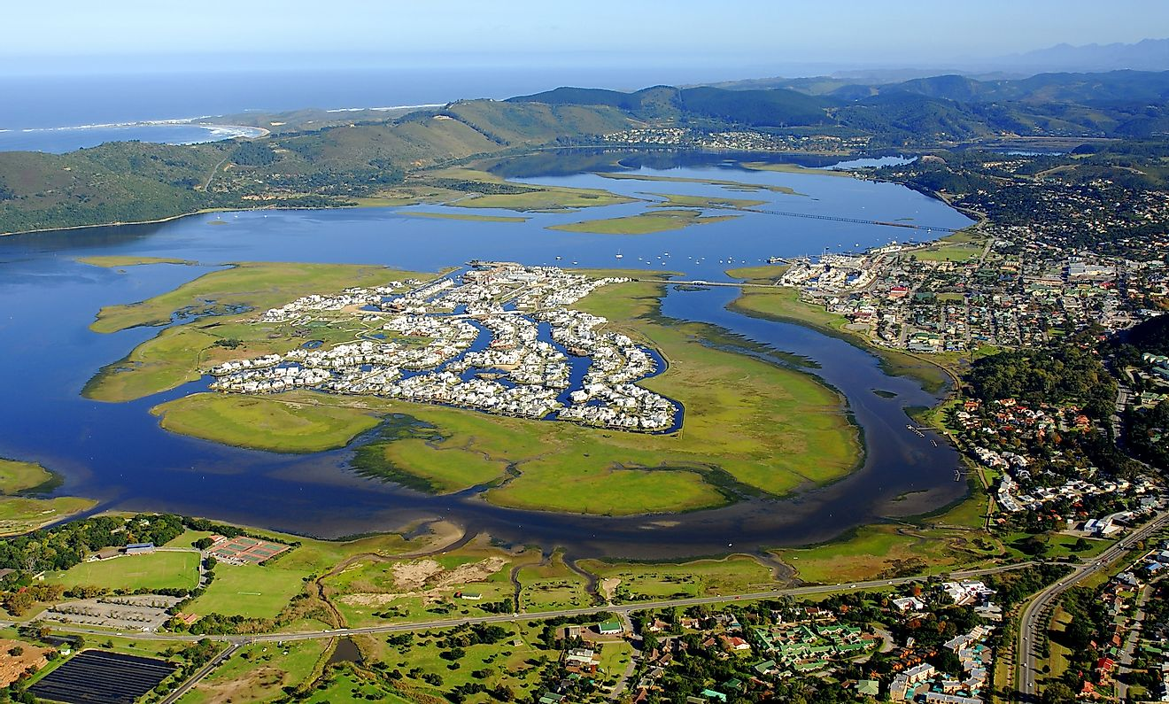 Aerial view of Knysna in the Garden Route, South Africa. Image credit: Dominique de La Croix/Shutterstock.com