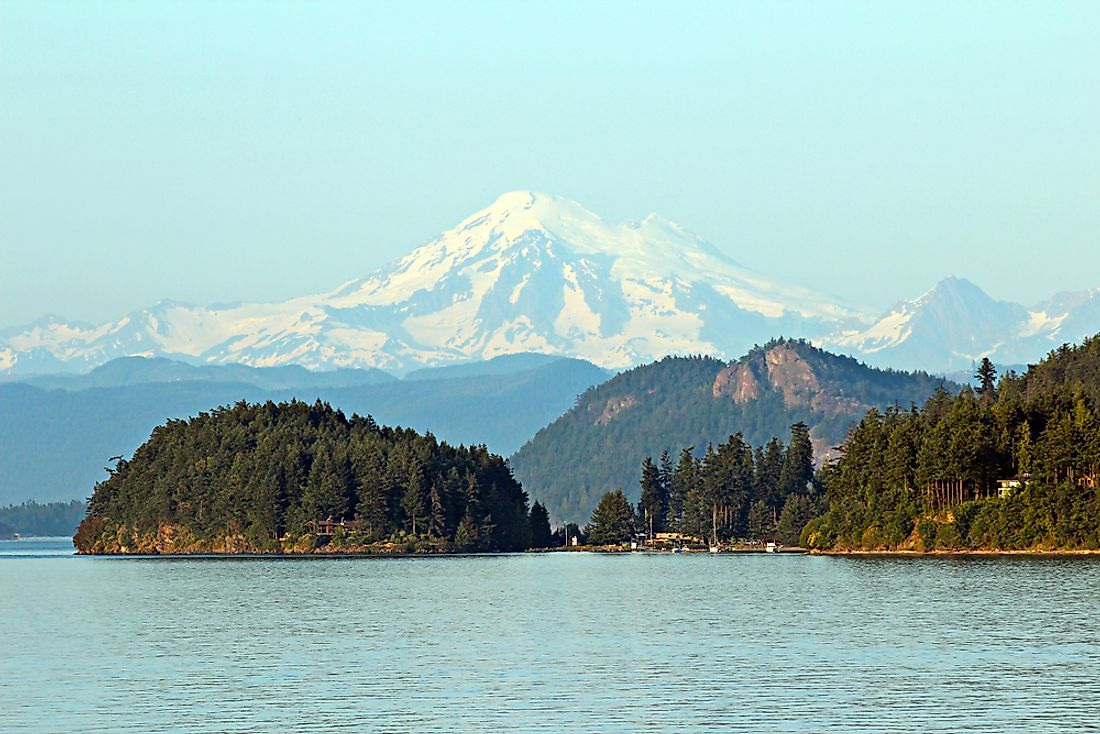 View of some of the 176 named islands that make up the San Juan Islands National Monument.